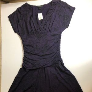 NWT Express purple and black jersey dress